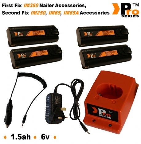 4 X Batteries 1 5ah For Paslode Nailer Wall Charger